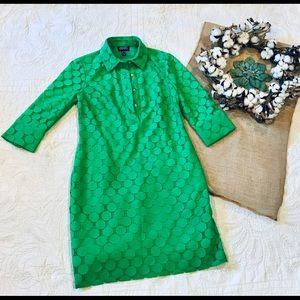 Adrianna Papell Green polka Dot dress size 6